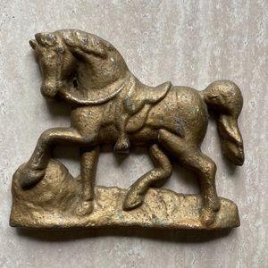 Vintage cast iron horse statue